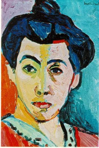 Fauvist Movement - Henri Matisse - The Green Stripe