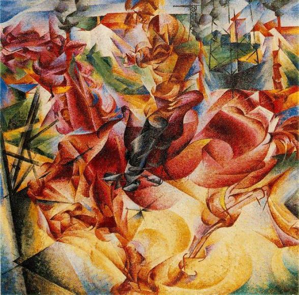 futurism art movement - Umberto Boccioni - Elasticity