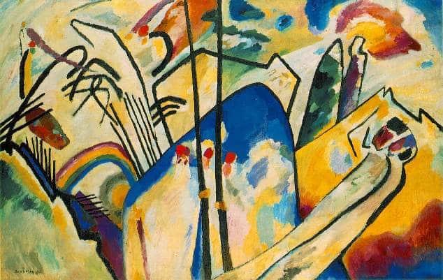 Der Blaue Reiter - Wassily Kandinsky - Composition IV
