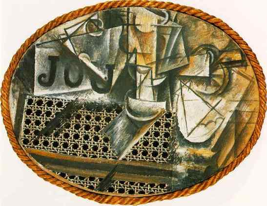 Pablo Picasso - Still Life With Chair Caning - Picasso Cubism