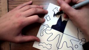 Positive and Negative Space Art Project