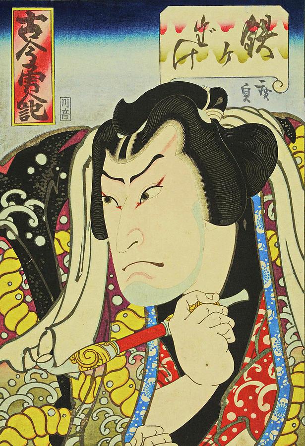 Samurai Painting by Utagawa Hirosada