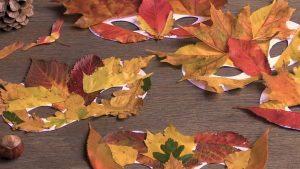 DIY Fall Leaf Mask for Kids