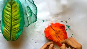 Painting on Plaster of Paris with Kids